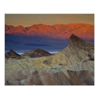 Mornings first light on  Zabriskie Point and Poster