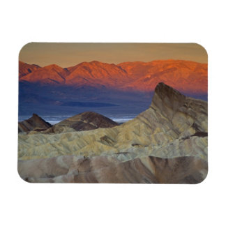 Mornings first light on  Zabriskie Point and Rectangular Photo Magnet