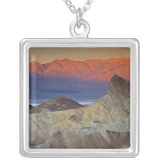 Mornings first light on  Zabriskie Point and Silver Plated Necklace