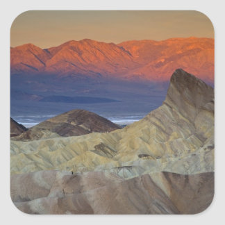 Mornings first light on  Zabriskie Point and Square Sticker