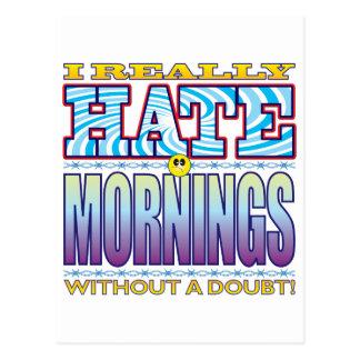 Mornings Hate Face Postcard