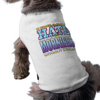 Mornings Hate Face Sleeveless Dog Shirt