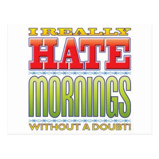 Mornings Hate Postcard