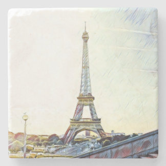 Mornings in Paris. Stone Coaster