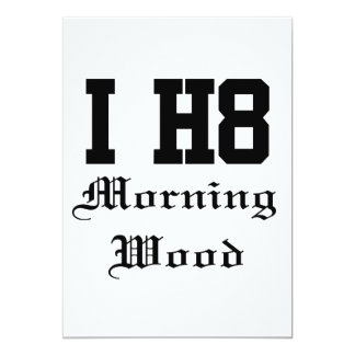 morningwood 13 cm x 18 cm invitation card