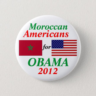Moroccan Americans for Obama 6 Cm Round Badge