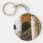 moroccan architecture basic round button key ring