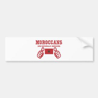 Moroccan are naturally awesome bumper sticker