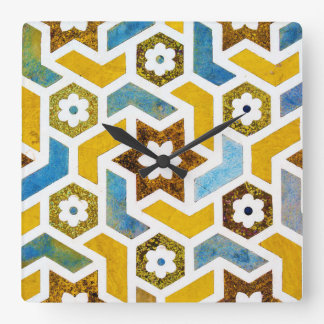 Moroccan Bliss Square Wall Clock
