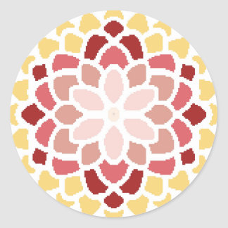 Moroccan Bloom Classic Round Sticker