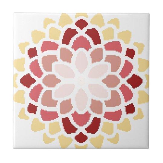 Moroccan Bloom Small Square Tile