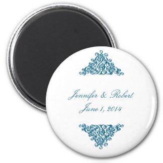 Moroccan Blue 6 Cm Round Magnet