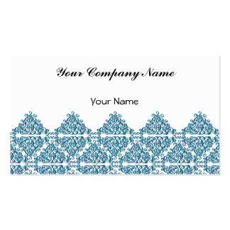 Moroccan Blue triangle Tile Double-Sided Standard Business Cards (Pack Of 100)