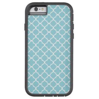 Moroccan Blue White Quatrefoil Pattern Tough Xtreme iPhone 6 Case