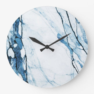 Moroccan Blues Large Clock