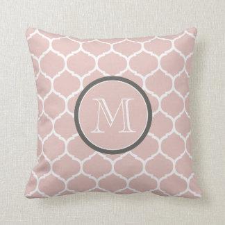 Moroccan Blush Monogram Pillow