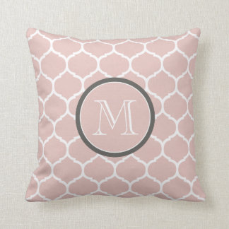 Moroccan Blush Monogram Pillow