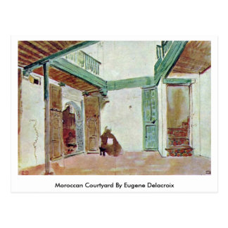Moroccan Courtyard By Eugene Delacroix Postcard