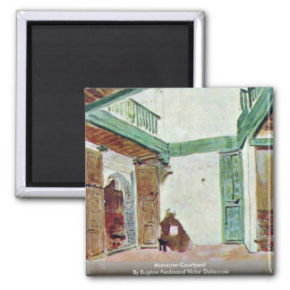 Moroccan Courtyard Refrigerator Magnet