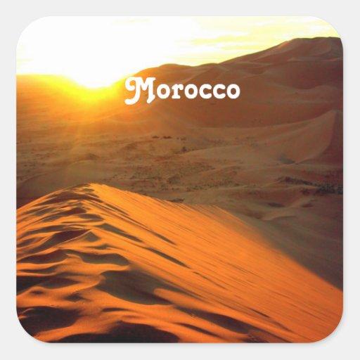 Moroccan Desert Square Sticker