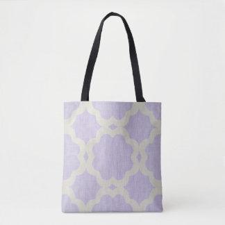Moroccan design lilac tote bag