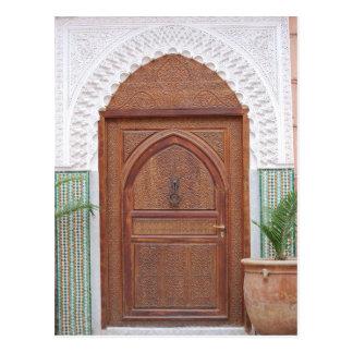 Moroccan door postcard