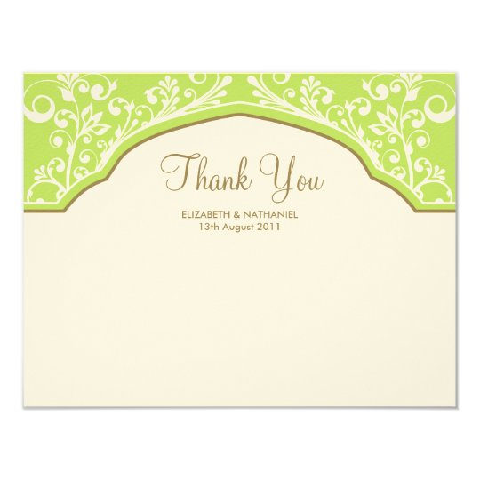 Moroccan Dream Thank You Note Card Green