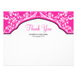 Moroccan Dream Thank You Note Card Hot Pink Invitation