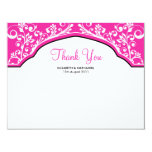 Moroccan Dream Thank You Note Card Hot Pink 11 Cm X 14 Cm Invitation Card