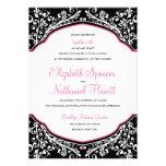 Moroccan Dream Wedding Invitation Black/Pink