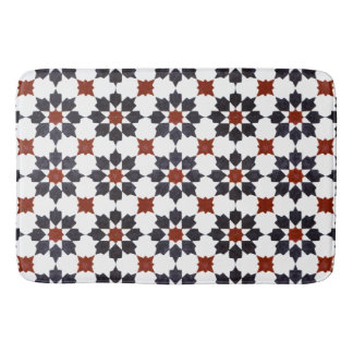 Moroccan Eight Point Star Pattern Bath Mat