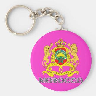 Moroccan Emblem Basic Round Button Key Ring