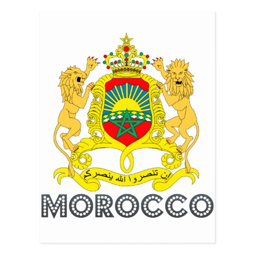 Moroccan Emblem Post Card
