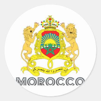 Moroccan Emblem Round Sticker