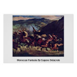 Moroccan Fantasia By Eugene Delacroix Posters