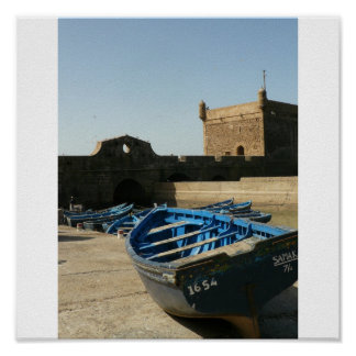 Moroccan fisherman poster