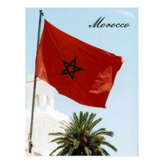 moroccan flag postcard