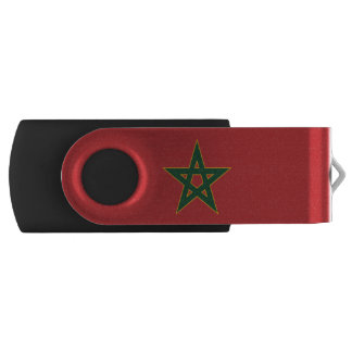 Moroccan flag USB flash drive