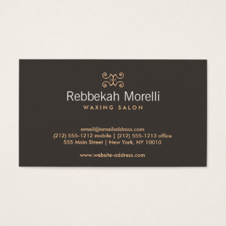MOROCCAN FLOURISH in WARMTH Business Card