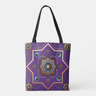 Moroccan Gold and Purple Tote Bag
