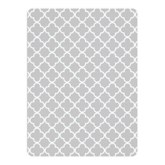 Moroccan Gray White Quatrefoil Pattern Announcements