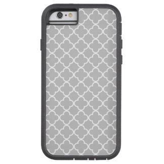 Moroccan Gray White Quatrefoil Pattern Tough Xtreme iPhone 6 Case