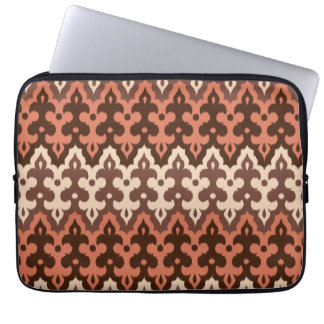 Moroccan Ikat Damask, Brown, Taupe & Rust Laptop Sleeve