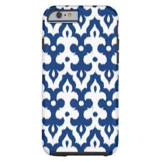 Moroccan Ikat Damask Pattern, Cobalt Blue & White Tough iPhone 6 Case