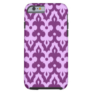 Moroccan Ikat Damask Pattern, Plum and Orchid Tough iPhone 6 Case