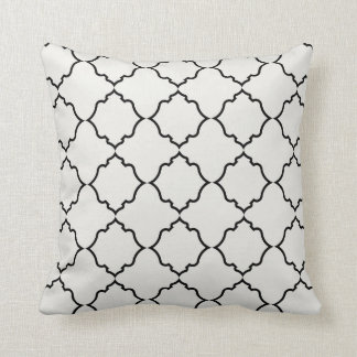 Moroccan in Black with Ivory Cushion