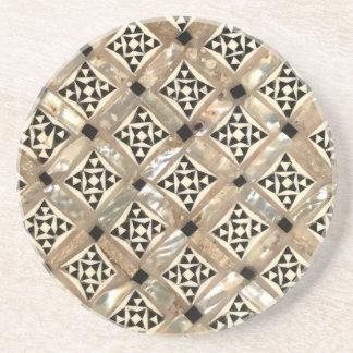 Moroccan inspired sandstone  drink coaster
