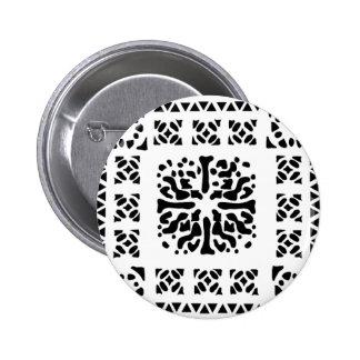 Moroccan Lantern Pattern 6 Cm Round Badge