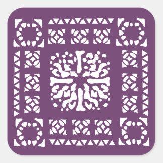 Moroccan Lantern Pattern Square Sticker