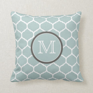Moroccan Mint Monogram Pillow